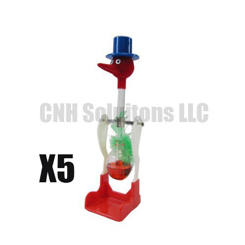 CNH 5 PCS The Famous Lucky Drinking Bird , Magic Drinking Bird