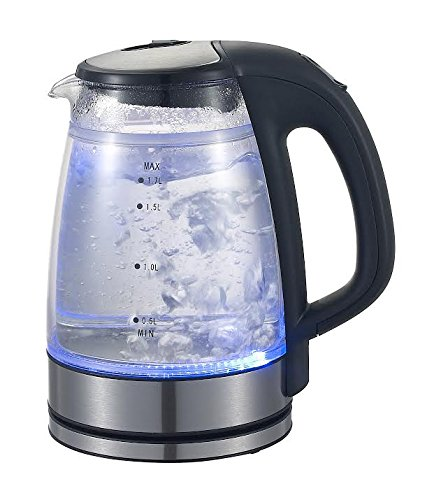 Double Wall Electric Glass Kettle (1.7L)