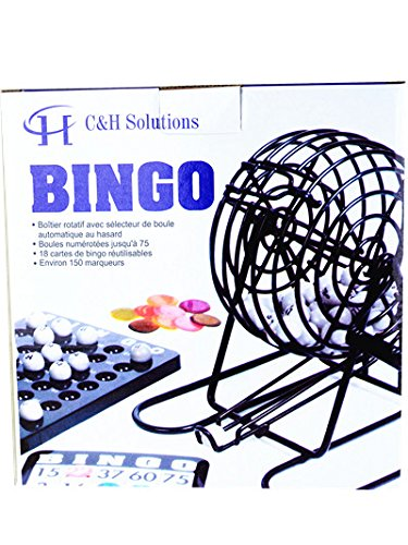 Deluxe Bingo Set , Complete Bingo Game Set, Rotary Cage With Automatic Bingo Set