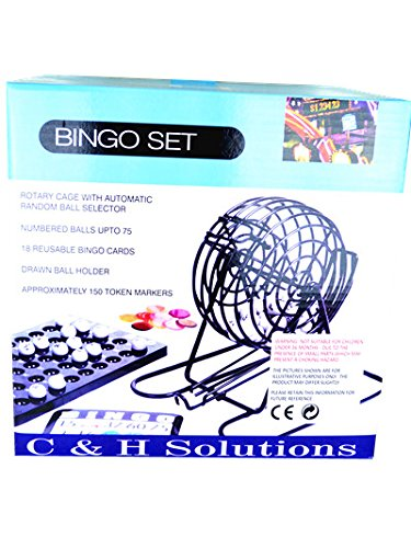 Big Cage Deluxe Bingo Set , Complete Bingo Game Set, Rotary Cage With Automatic Bingo Set