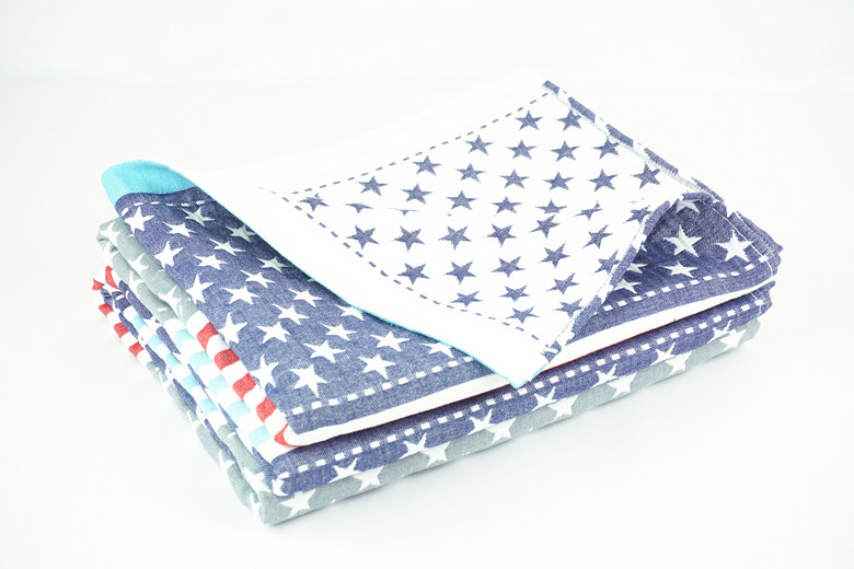 American Flag Stripes Quilted Throw Blanket