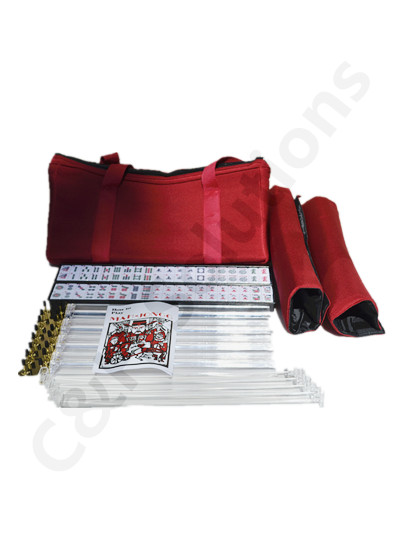 Burgundy Bag 4 Clear Racks 4 Clear Pushers