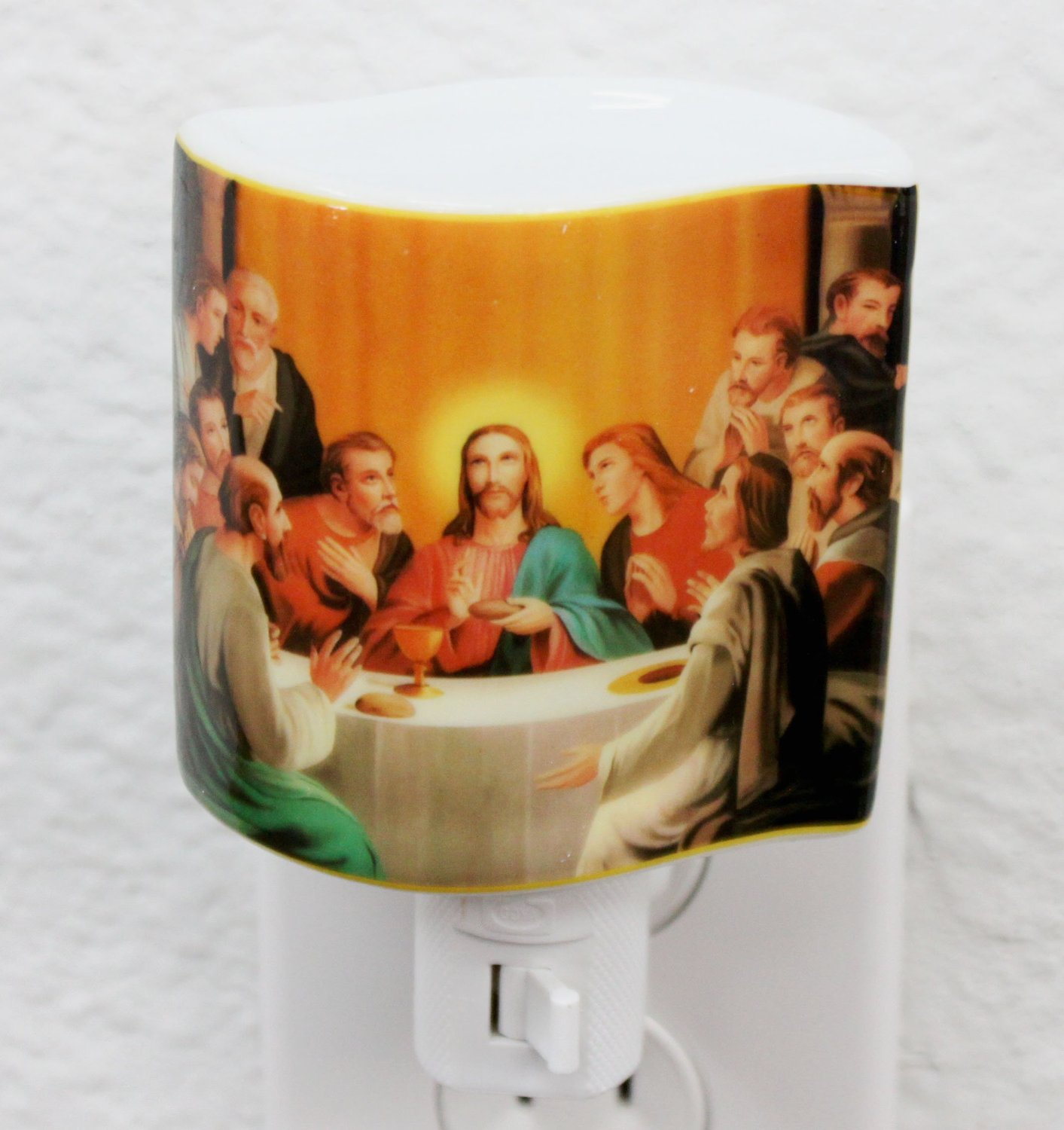 Ceramic Jesus The Last Supper Porcelain Religious Night Lights(CF68)