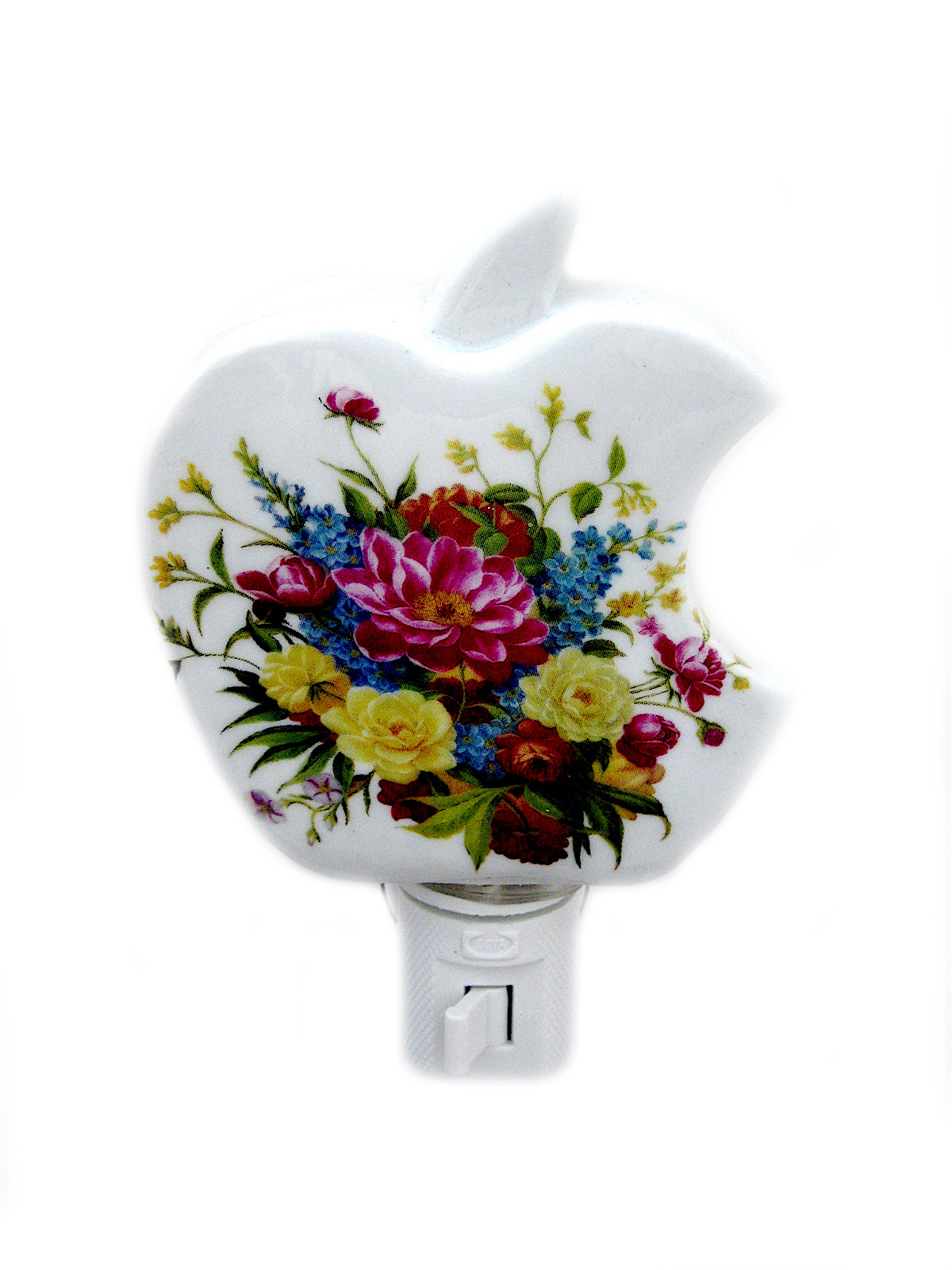 Ceramic Apple Shape With  Delicate And Charming Refined Flower Night Lights (CF60)