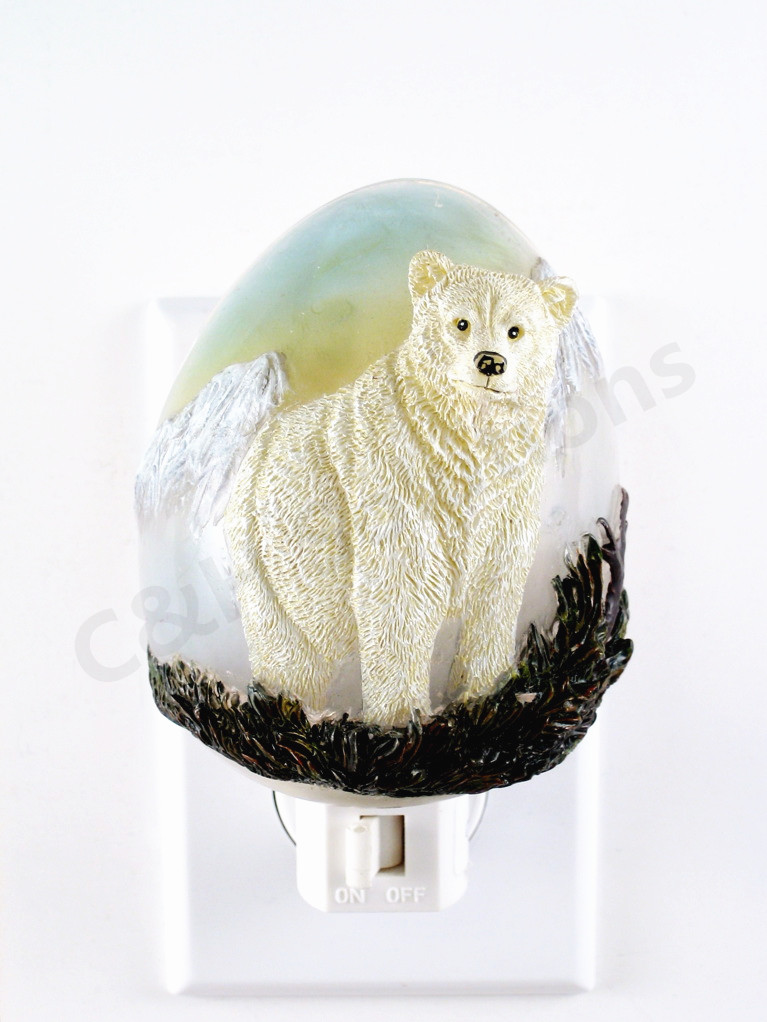 Elegant Polar Bear On The Prairie Decorative Night Lights