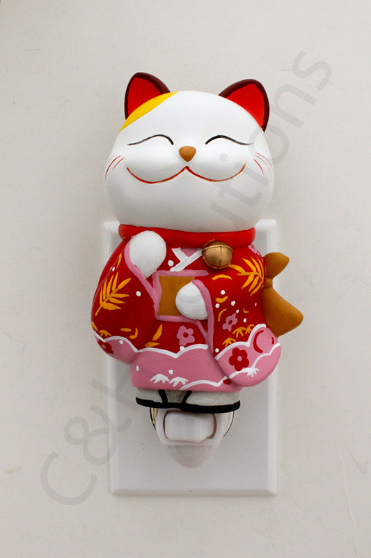 Cute Lucky Kitty Cat Night Lights