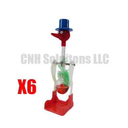 CNH 6 PCS The Famous Lucky Drinking Bird , Magic Drinking Bird