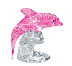 3D Dolphins Crystal Puzzle (Pink)