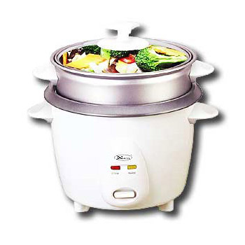Non-stick rice cooker with steamer 3 cup