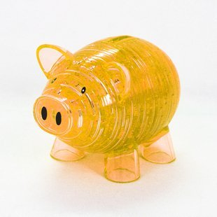 3D Piggy Bank Crystal Puzzle (Yellow)