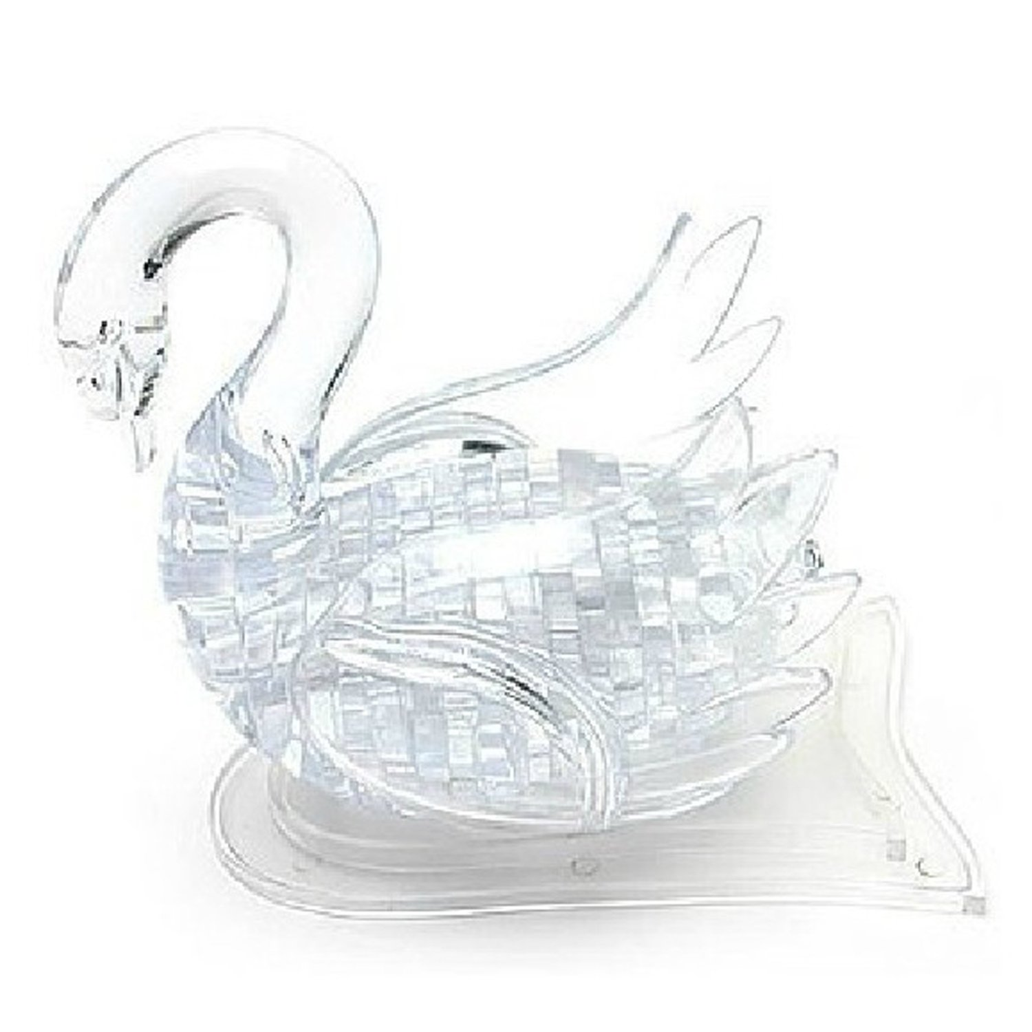 3D Swan Crystal Puzzle (Clear)