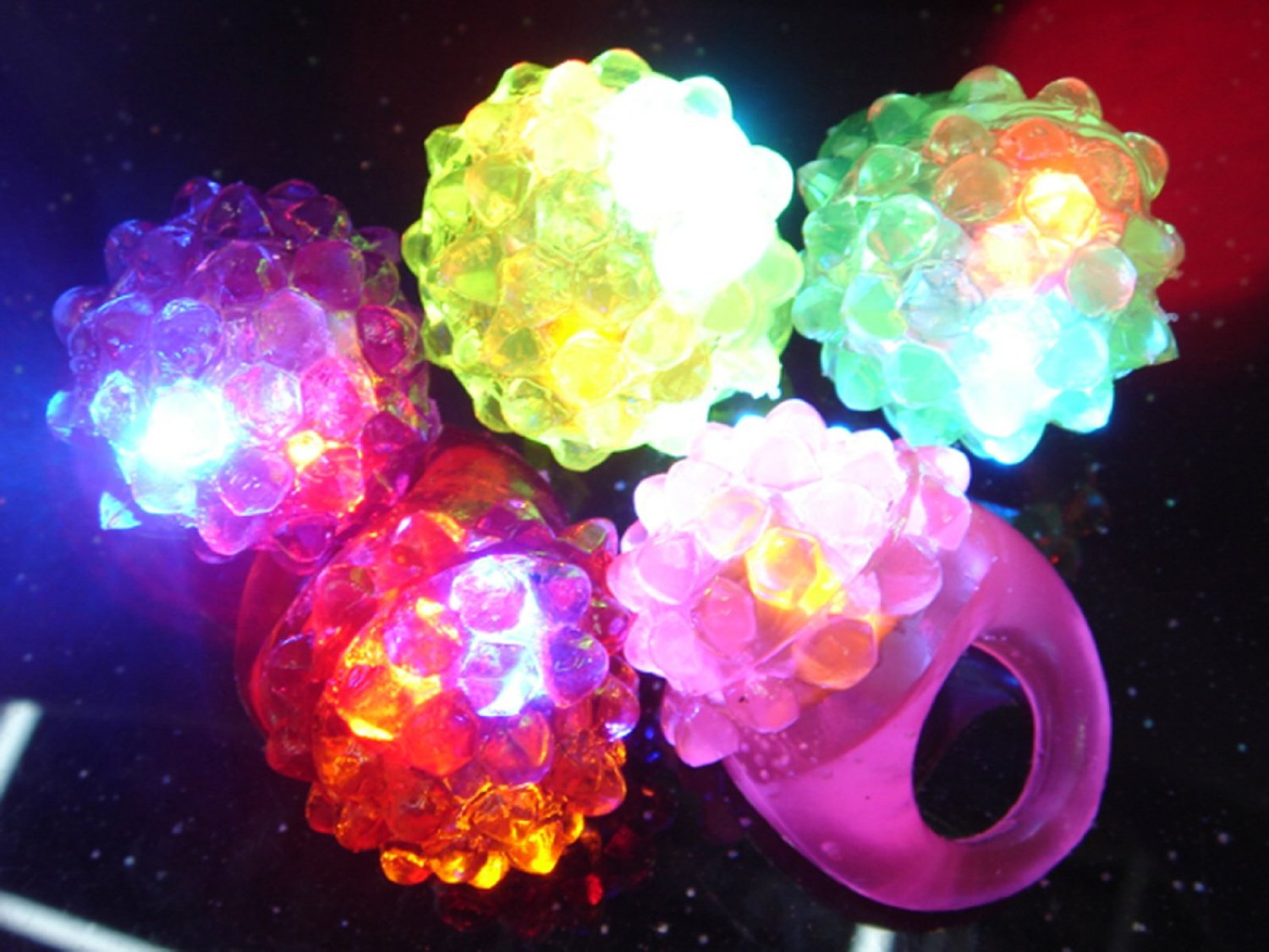 Flashing Led Bumpy Ring (Pack of 72)