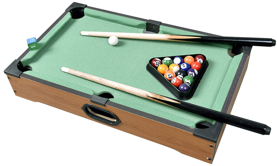 "Mini Pool Table 21"" Billiards Set W/Accessories"